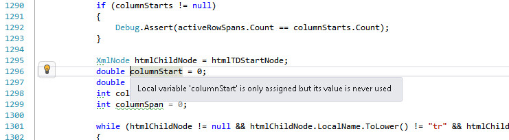 Violation in Visual Studio